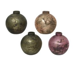 Glazen vaas (bol) - 4 varianten