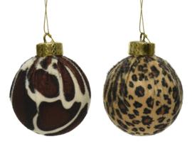 Kerstbal (foam) met dierenhuid