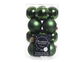 Kerstballen Glanzend dennengroen Glas