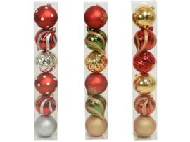 Kerstballen Kunststof  15 cm
