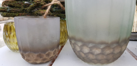Dik groen glas Brocante   Klein