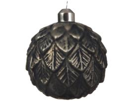 Glazenbal - leaf relief - Grey