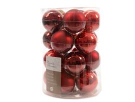 Rode glazen kerstballen (20 stuks)