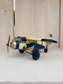 Vliegtuigje - blauw/wit