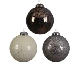 Glazen kerstballen 3 kleuren assortiment (per stuk)