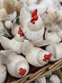 Kip glimmend met rode kop / hen en haan