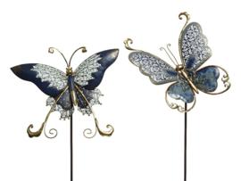 Tuinsteker vlinder van ijzer
