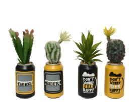 Vetplant in bierblikje - plastic