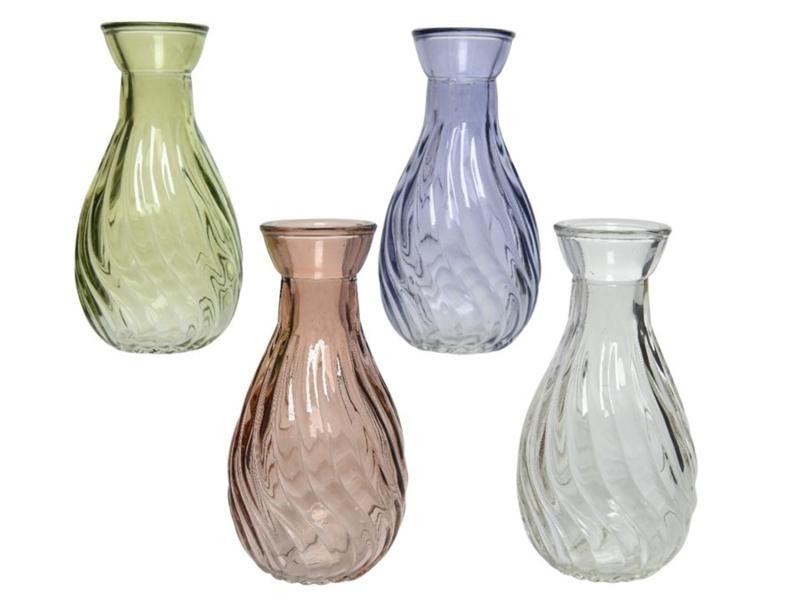 Glazen vaasje - 4 kleuren