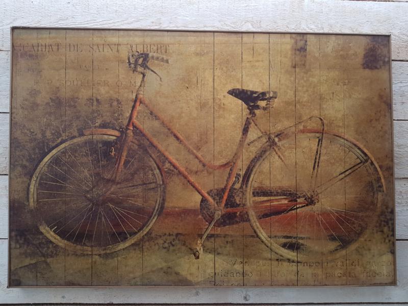 Schilderij fiets
