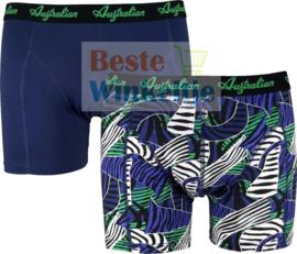 Australian Heren Boxers Blue Jungle 2-pack