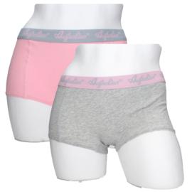 2x Australian Dames  Boxers Grijs-Roze