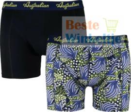 Australian Heren Boxers Blue Yellow 2-pack