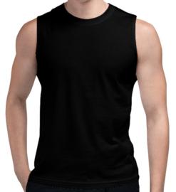 2x Naft Mouwloos T-shirt Zwart