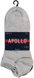 6x Apollo heren sneakersokken Multi-Grijs