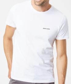2x Pierre Cardin T-shirt 100% Katoen R-Hals