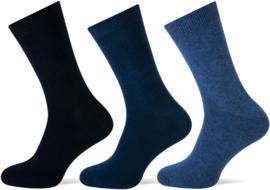 6x Teckel Damessokken Blauw Jeans assorti