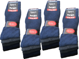 10x Naft Sport/Werksokken kleurassorti.