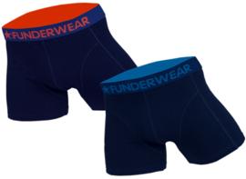 """2x Funderwear Heren Boxers """"Navy"""""""