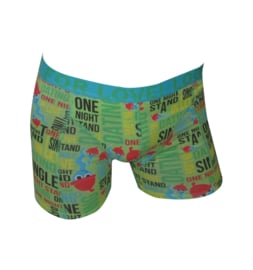 "SALE! Funderwear Boxershort ""Dating-Looking for Love"" Groen"