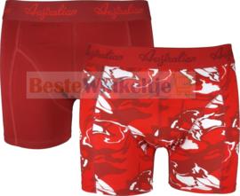 2x Australian Heren Boxers Red Camo