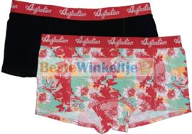 2x Australian Dames  Flower Roze/Zwart