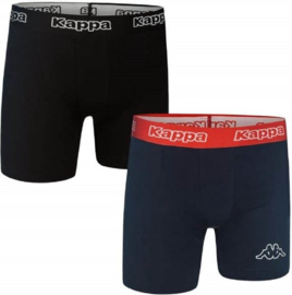 "2x Kappa Heren Boxers ""Zwart/Navy"""