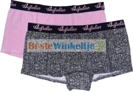 2x Australian Dames  Boxers Sunflower Zwart/Roze