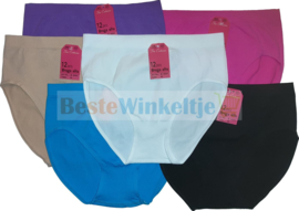 6x M&B Dames slip Naadloos Color