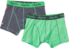 2x Australian Heren Groen + Zwart