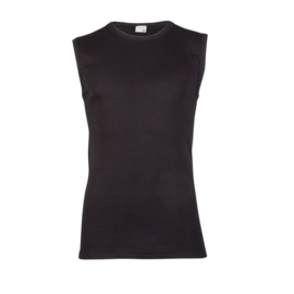 2x Beeren Bodywear Mouwloos Shirt Zwart M3000