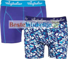 2x Australian Heren Boxers Camouflage Blue