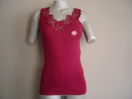 SALE! Tokerhemd met luxe Kant Bordeaux Rood