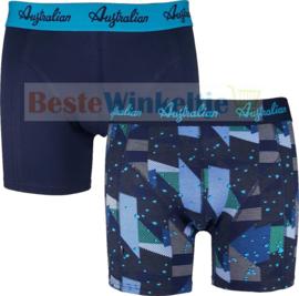 2x Australian Heren Boxers Blue Pieces