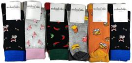 Fun sokken Weekend Vibes Unisex 6-pack Mix#2
