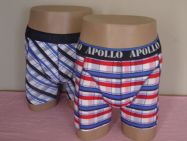 "SALE! Apollo Herenboxers ""Multi Checks"" Rood/Blauw"