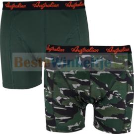 2x Australian Heren Camouflage groen