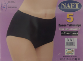 5x NAFT Dames tailleslip Zwart Katoen
