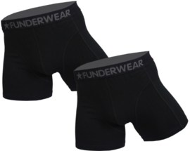 "2x Funderwear Heren Boxers ""Black"""