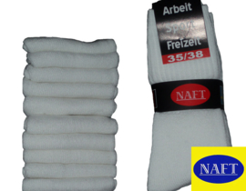 10x Naft Sport/Werksokken Wit