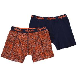 2x Australian Heren Oranje/Blauw