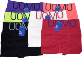6x UOMO naadloze Herenboxers Color Classic