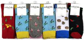 Fun sokken Weekend Vibes Unisex 6-pack Mix#3