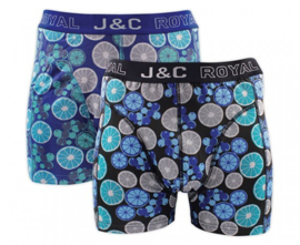 "J&C Herenboxer Citrus ""Aqua&Blue"""