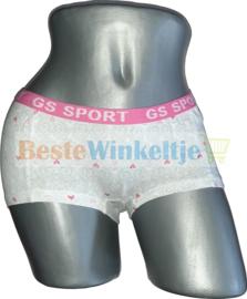 2x GS Sport Dames Print Wit/Roze/Grijs