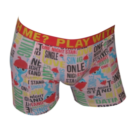 "SALE! 2x Funderwear Boxershort ""Dating"" Pink S"