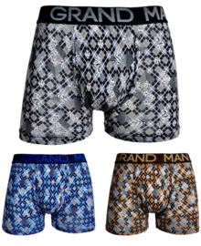 "3x Grand Man Heren Boxers ""Ruitjes"" 5033"
