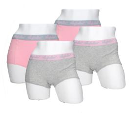 4x Australian Dames  Boxers Grijs-Roze