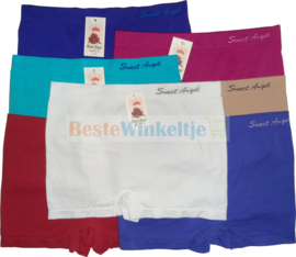 7x Sweet Angel Hoge naadloze Damesboxers Color