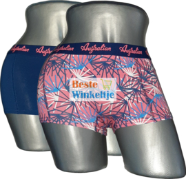 2x Australian Dames  Roze/Blauw